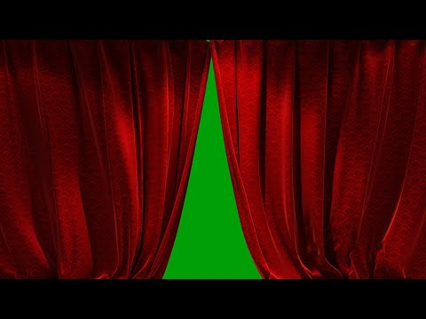 3D Realistic Red Curtain Opening Closing (6 Scene Video) Free For Use