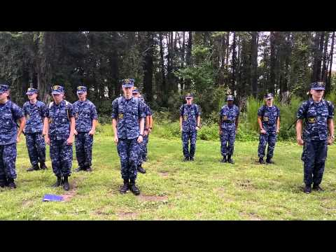 Knock out drill at Sea Cadets MAA training