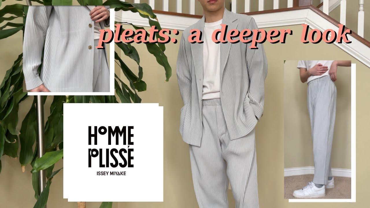 a deeper look into the PLEATS of HOMME PLISSÉ ISSEY MIYAKE (pants, blazer, etc.)