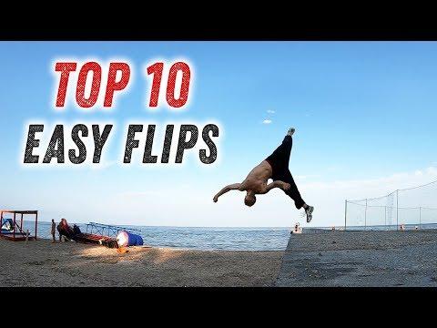ТОП 10 ЛЁГКИХ САЛЬТО (TOP 10 EASY FLIPS)