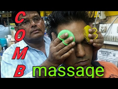 Intense Asmr comb head massage by old school barber