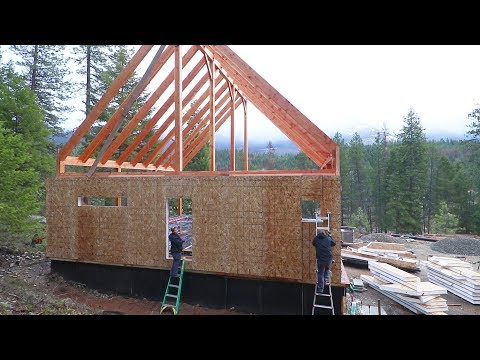 Download Youtube: OUR FIRST WALL IS FINISHED! (Timber Frame SIP Installation)