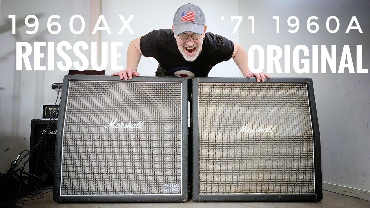 Does the Marshall 1960AX 4X12 cab sound like the '70s original