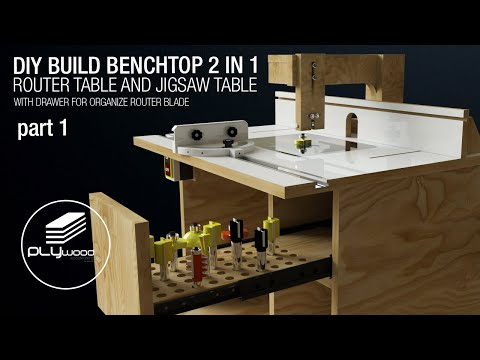 Build a Benchtop 2 in 1 ROUTER TABLE and JIGSAW TABLE | DIY - part 1