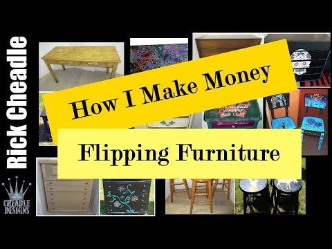 How I Make Money Flipping Furniture: create inexpensive tables, dresser 2018 fast money
