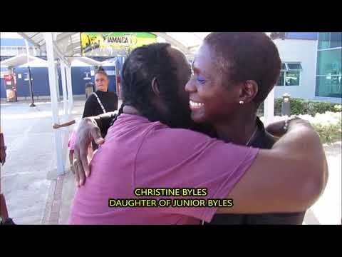 JUNIOR BYLES DAUGHTER CHRISTINE BYLES RETURNS TO JAMAICA