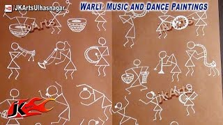 Warli Music and Dance Paintings - JK Arts 557