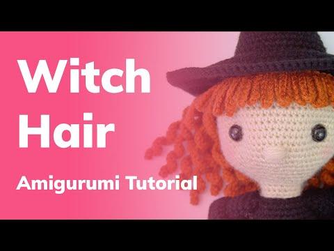 Amigurumi Hair Tutorial for Regina the Witch