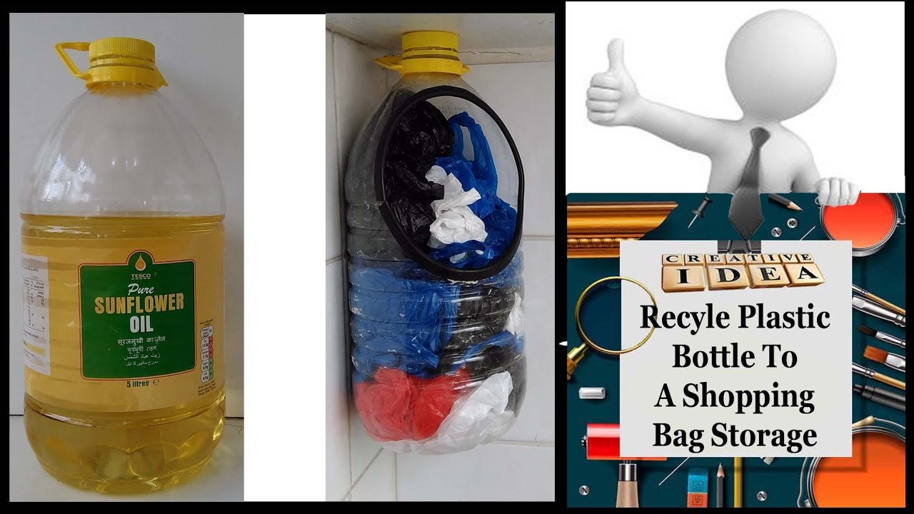 Incroyable Recycle Plastic Bottle To A Shopping Bag Storage