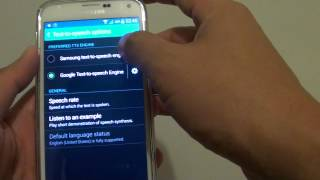 Samsung Galaxy S5: How to Install and Change Different Text-To-Speech Voice Data