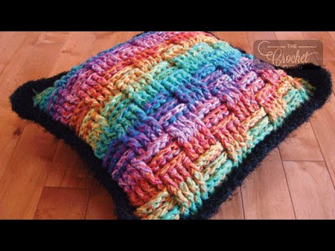 How to Crochet A Pillow: Basket Weave