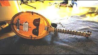 dIY tennis racket guitar by Porcapizza