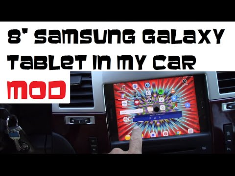 "How to install 8"" Samsung Galaxy tablet as car stereo in 2007-2014 Cadillac Escalade"