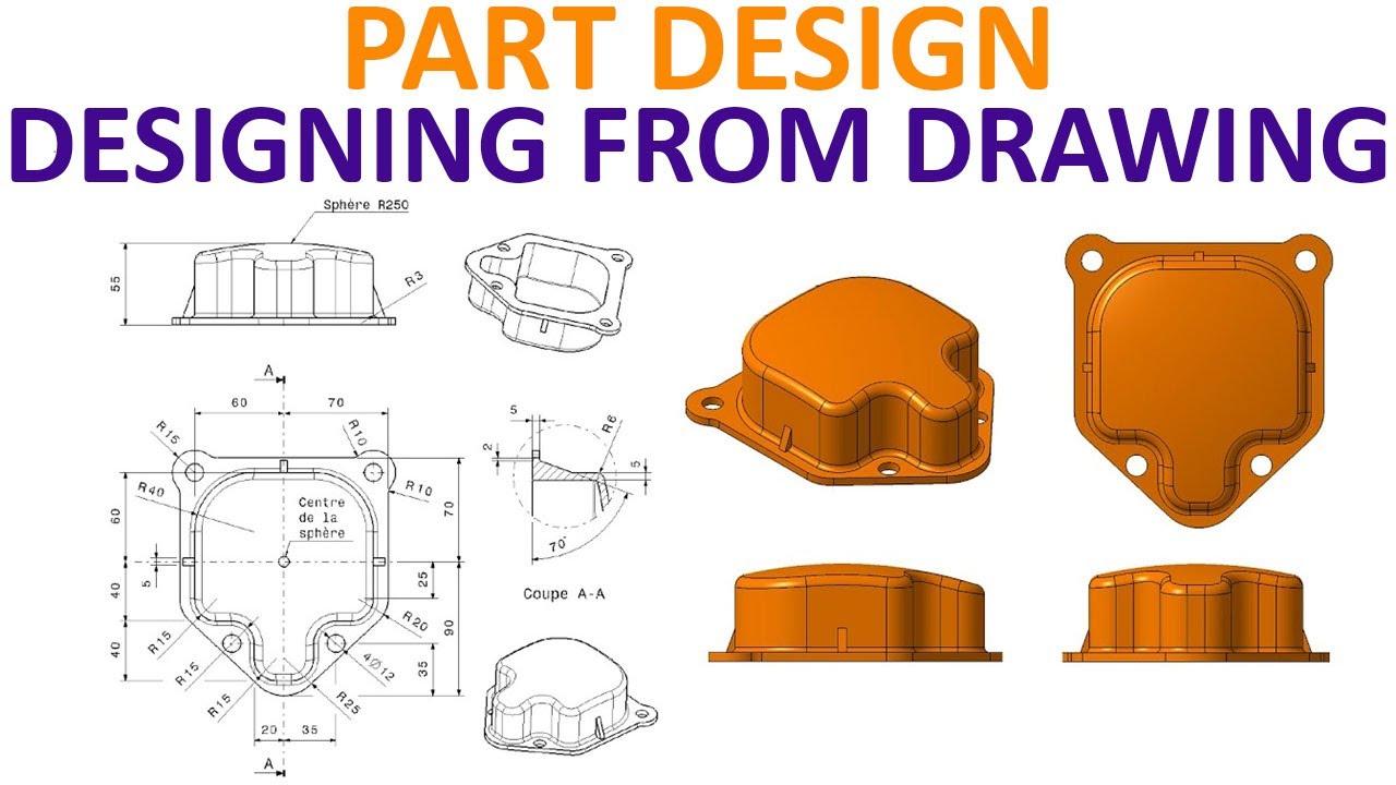 Catia V5 Part Design Tutorial 10 Carter Circular