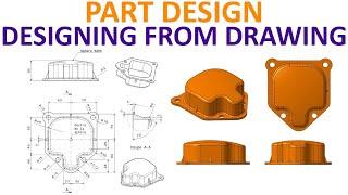 CATIA V5 Part Design Tutorial #10 - Carter - Circular Pattern, Spherical  Surface, Complex Design by Catia V5-V6 Tutorials
