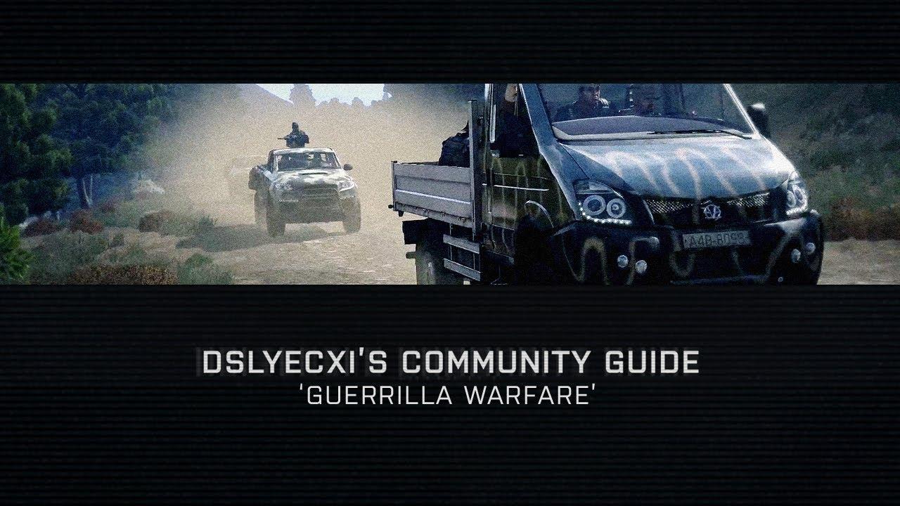 Arma 3's latest community guide explores guerrilla warfare tactics