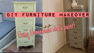 DIY Furniture Makeover/ DIY Chalk Paint/ Furniture Redo