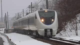 七尾線 683系W31 南羽咋駅付近通過