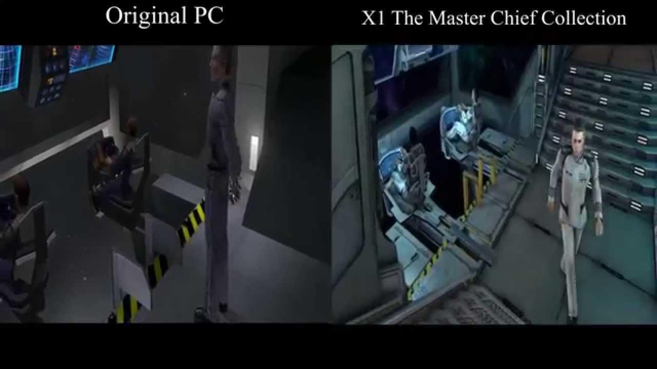 Halo 1 The Master Chief Collection Vs Original Pc Version 1080p