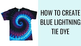 "How To Achieve ""Lightning"" Effect In Your Tie Dye Shirt Using 3 colors!"
