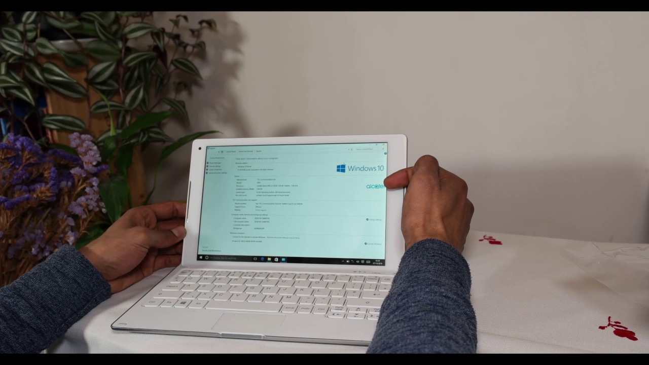 Alcatel Plus 10 + 4G LTE Keyboard Unboxing   Overview  Windows 10  - YouTube 68d414393a78