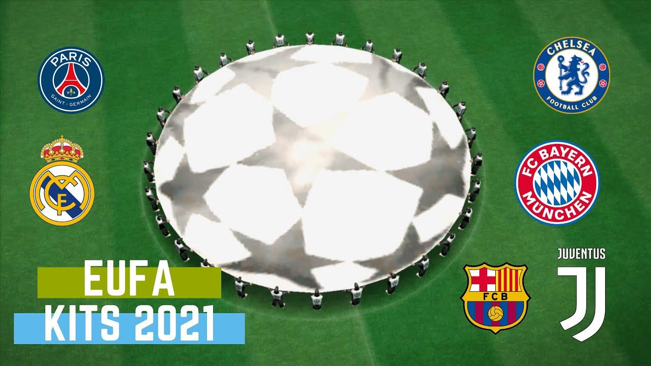 UEFA Champions league kits season 2021 PES 2013 - YouTube