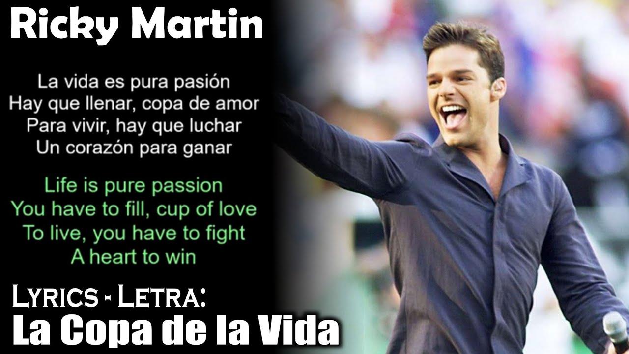 Download Ricky Martin - La Copa de la Vida (Lyrics Spanish-English) (Español-Inglés)