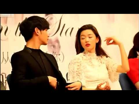 Kim Soo Hyun & Jun Ji hyun Moment ( You Who Came From The Stars Press Conference )