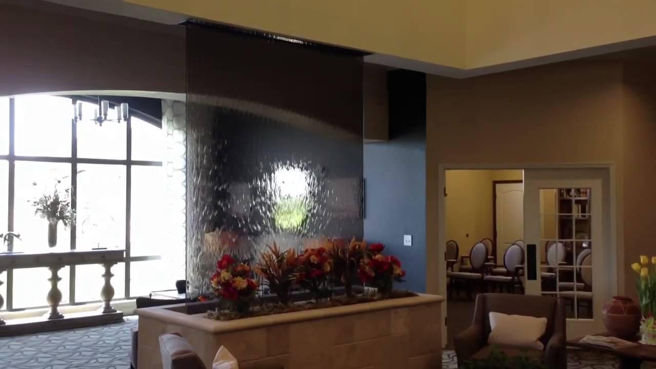 Glass Water Wall Waterfall Indoor Youtube