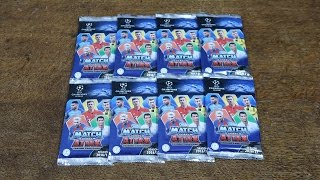 CHAMPIONS LEAGUE MATCH ATTAX 2016/17! 8 Pack Opening - US Edition