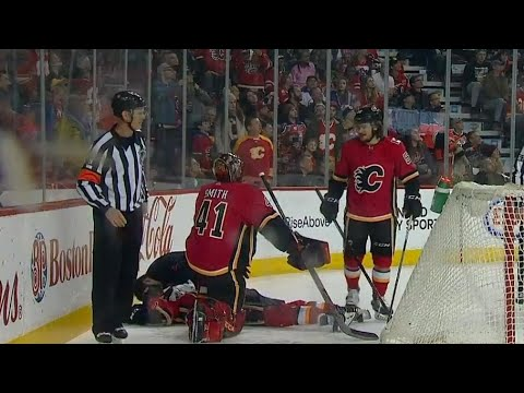 Jankowski shaken up after getting clotheslined by Smith