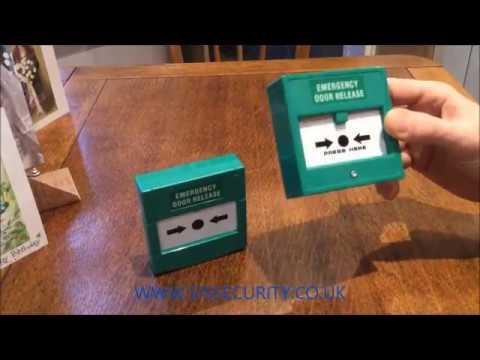 How to reset an emergency door release unit.