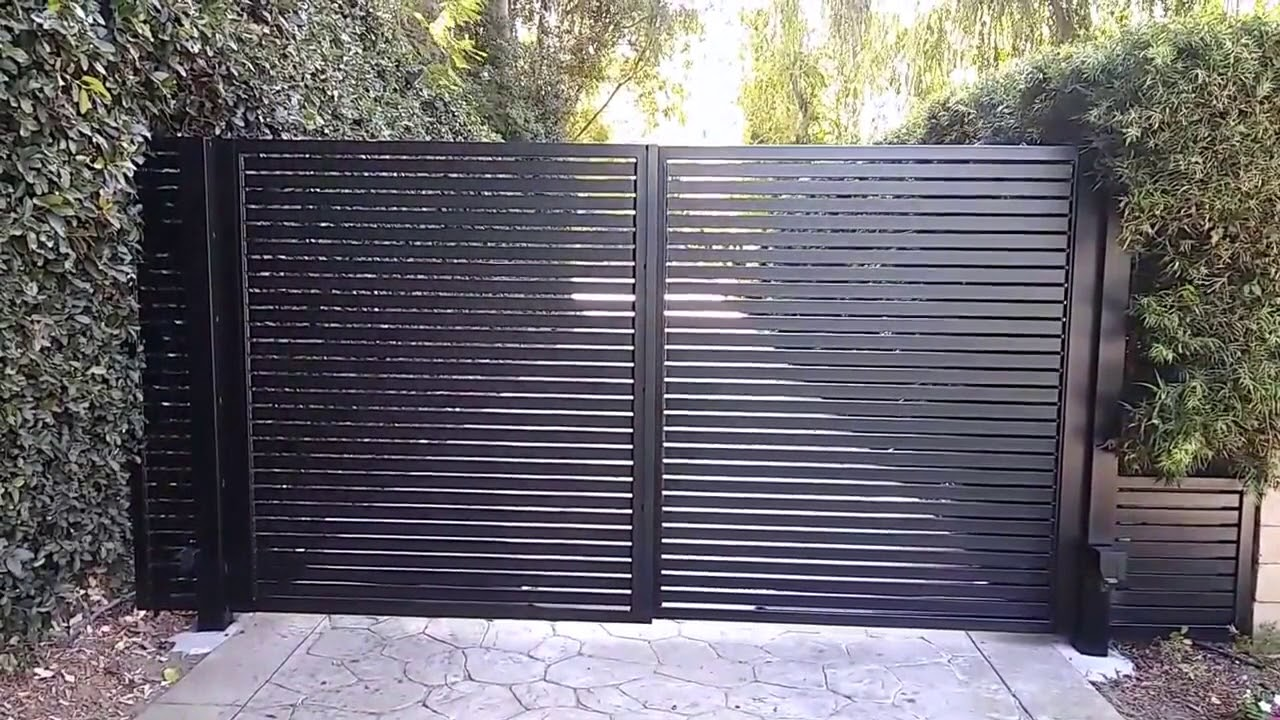 Aluminum Driveway Gate Install | Mulholland Security Los Angeles  1 800 562 5770