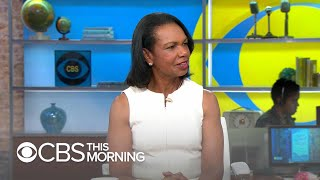 """Condoleezza Rice: """"I'm relieved"""" that U.S. walked away from talks with Taliban"""