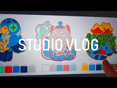 Studio Vlog 002: Figuring out enamel pins thumbnail