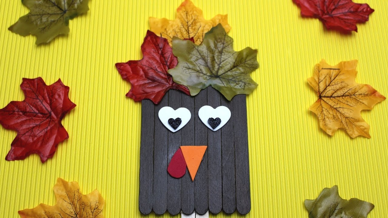 How To Make A Popsicle Stick Turkey Fall Crafts For Kids