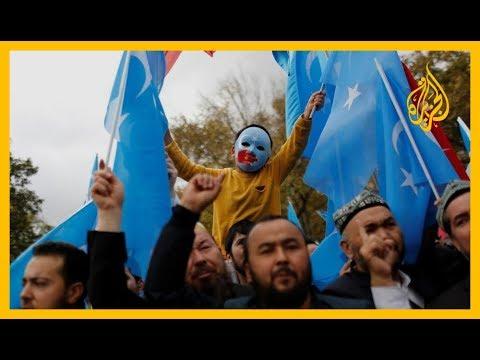 شاهد متضامنون من أمام السفارة الصينية في #لندن يطالبون بإنقاذ #الإيغور من معسكرات الصين ????  - نشر قبل 59 دقيقة