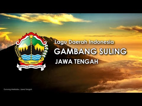 Gambang Suling - Lagu Daerah Jawa Tengah (Karoke, Lirik dan Terjemahan)