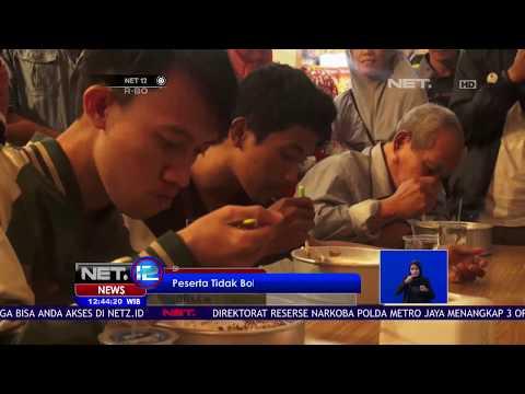 Lomba Makan Kue Ukuran Besar Di Sukabumi - NET 12