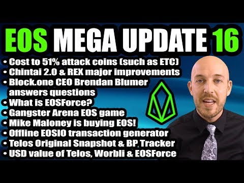 EOS Mega Update 16 - Chintai v2.0 & REX, Gangster Arena, Scatter Exchange IN Wallet, Audit, EOSForce