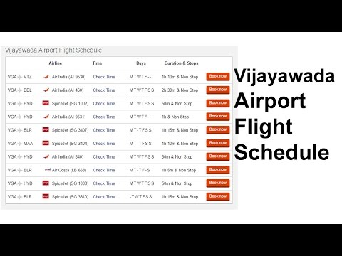 Vijayawada Airport Flight Schedule