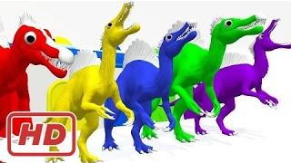 Обучение цветов с динозавров Мультики для детей | Цвета динозавры гараж обучение видео