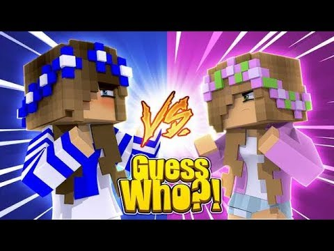 SECRET GUESS WHO?! w/Little Carly and Little Kelly (Minecraft).