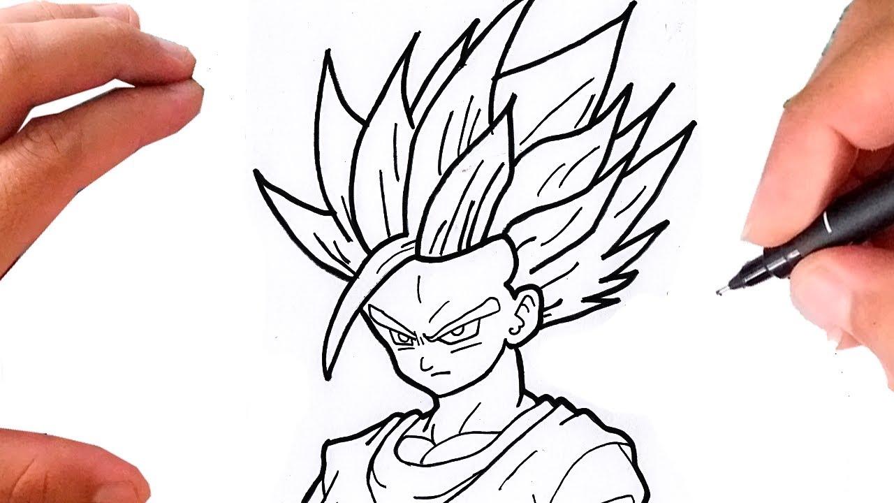 Dragon Ball Z Para Colorir Gohan Super Ssj 2: Como Desenhar GOHAN SSJ 2