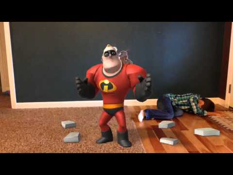 Chase gets hit by Mr. Incredible!