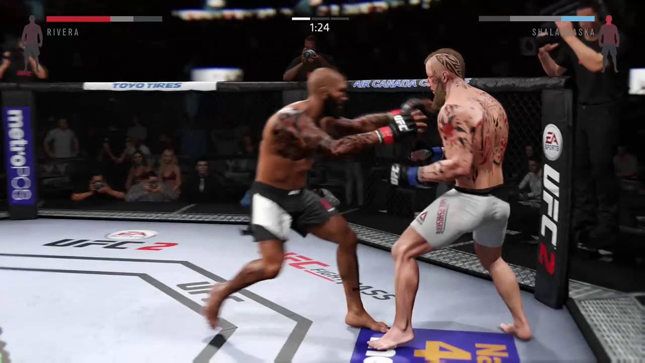 EA SPORTS UFC 2 - KO GLITCH - Lean back - YouTube