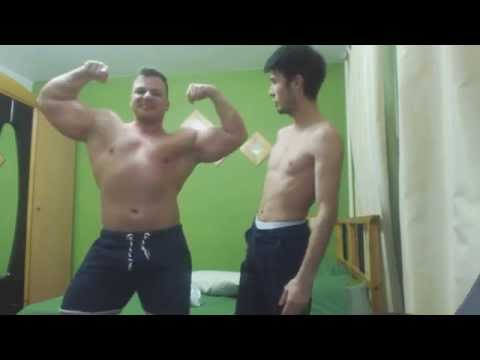 Gabriel MuscleDominus-Muscle comparison with fit guy