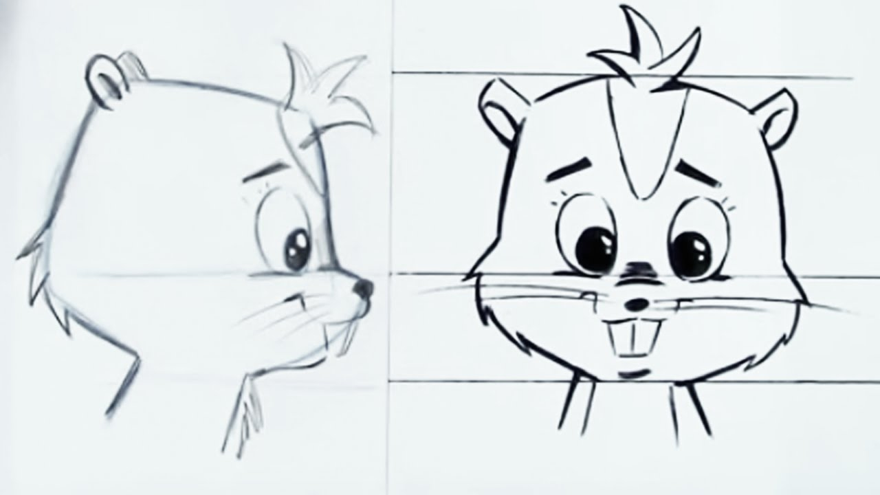 free how to draw a cute chipmunk step by step christopher hart shows how to draw for free youtube