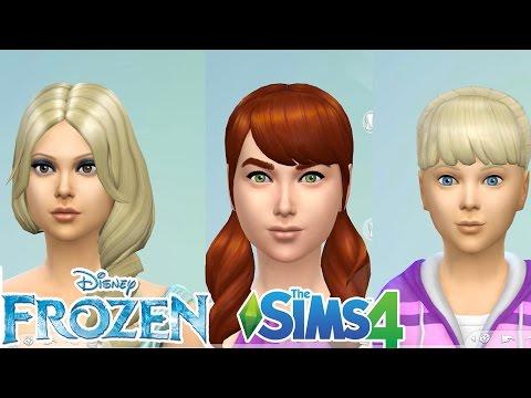 Evcilik TV Sims 4 oyunu | Frozen Karlar ülkesi Kraliçe Elsa Prenses Anna