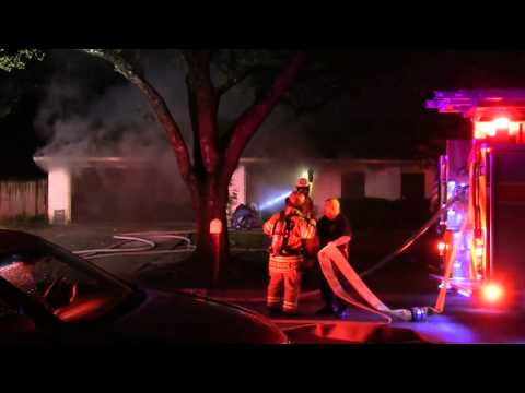 Early video: House fire in Texas
